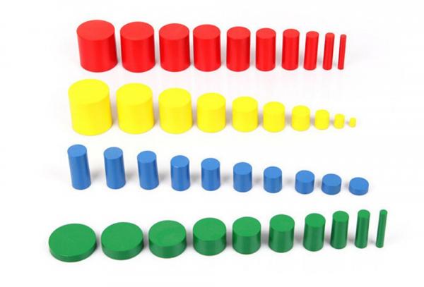Joc Lemn Montessori Cilindrii Knobless - Joc de Lemn Educatie Montessori 5