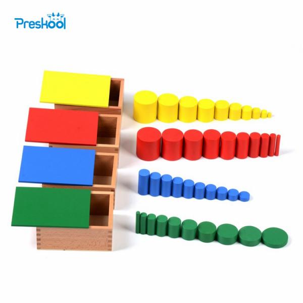 Joc Lemn Montessori Cilindrii Knobless - Joc de Lemn Educatie Montessori 0