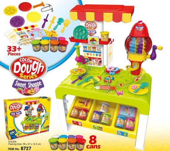 Masa de joaca copii modelare plastelina 33 de piese - Magazin de modelare plastelina cu accesorii 0