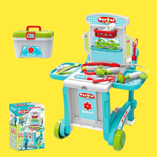 Set Trusa  doctor 3 in 1 troler Little Doctor 1
