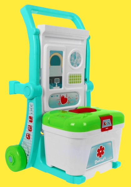 Set Trusa  doctor 3 in 1 troler Little Doctor 2