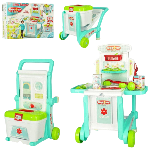 Set Trusa  doctor 3 in 1 troler Little Doctor 0