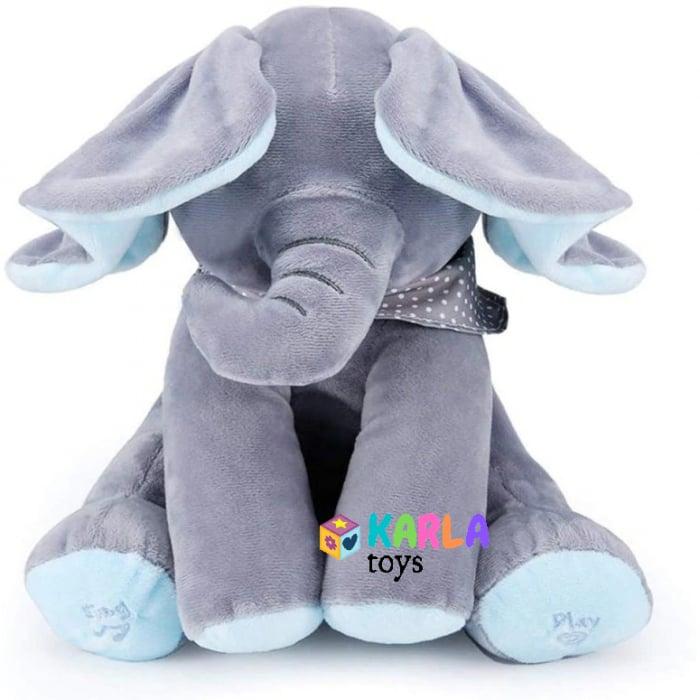 Elefantul Vorbitor Jucarie interactiva Elefantul Cucu bau Peek-a-boo 1