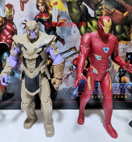 Set figurine tip Avengers Iron man Thanos Black Panther Siderman 1