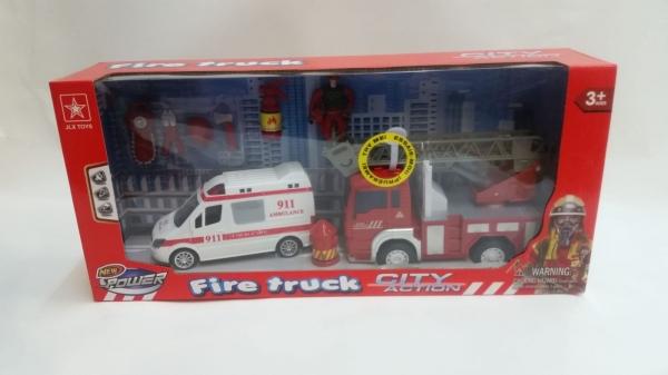 Set Masina de Pompieri cu Ambulanta  sunete si lumni [0]