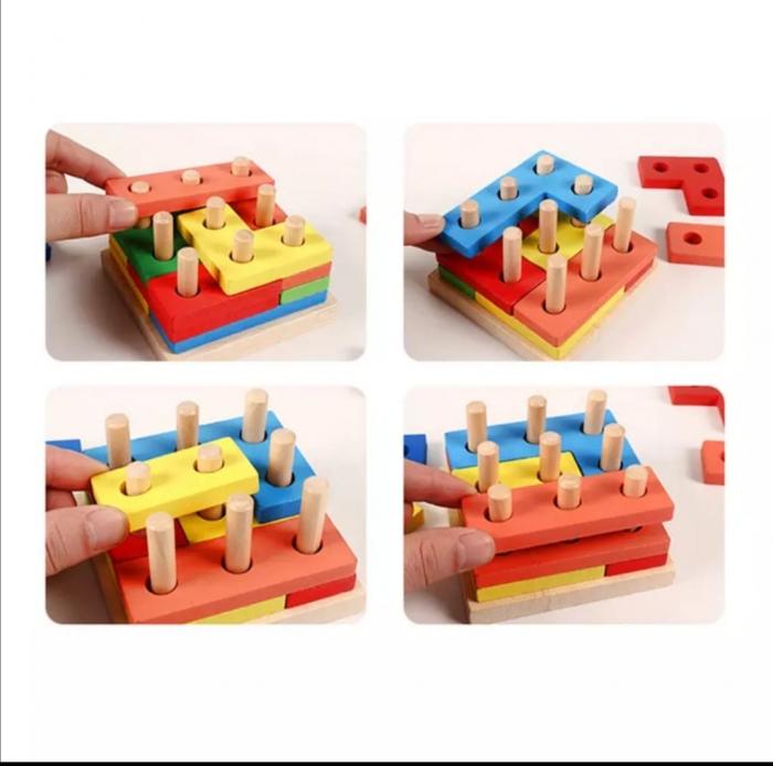 Forme geometrice colane sortare Tetris [4]