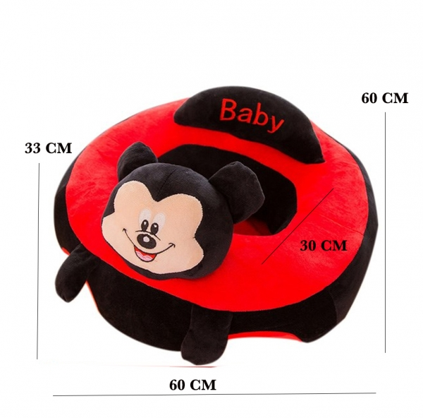 Fotoliu bebe Sit up  din plus Mickey Mouse  Minnie Mouse Mare 1