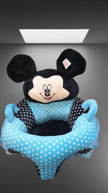 Fotoliu Bebelusi cu arcada cu jucari Minnie Mickey Mouse cu buline [1]