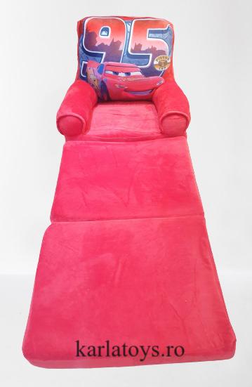 Fotoliu din plus extensibil pentru copii Cars  masinute 0