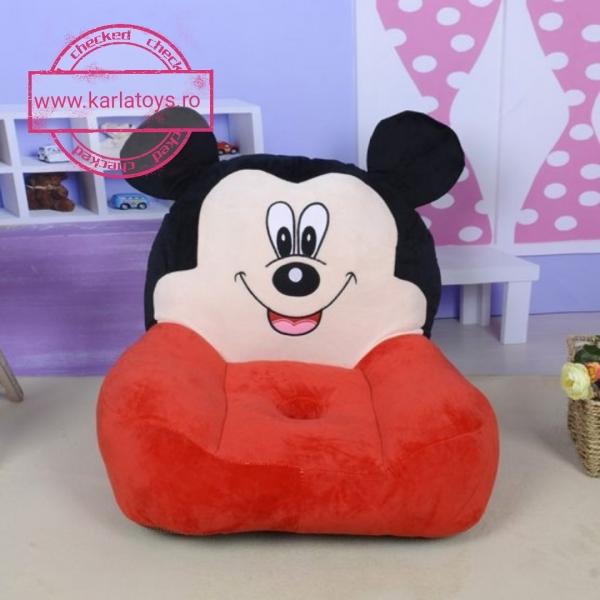 Fotoliu din plus Mickey Mouse sau  Minnie Mouse pentru copii 0