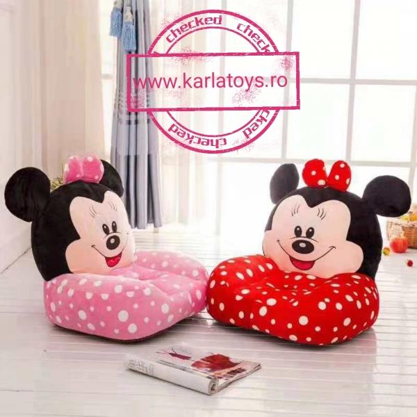 Fotoliu din plus sit down Minnie Mouse cu buline 0
