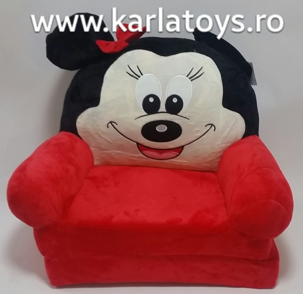 Fotoliu extensibil din plus Minnie Mouse  Rosu 80 cm [1]
