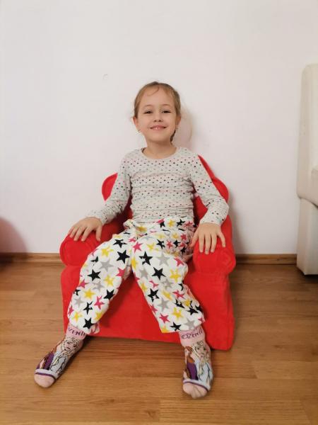 Fotoliu extensibil de plus Princess Rosu 100 cm 2