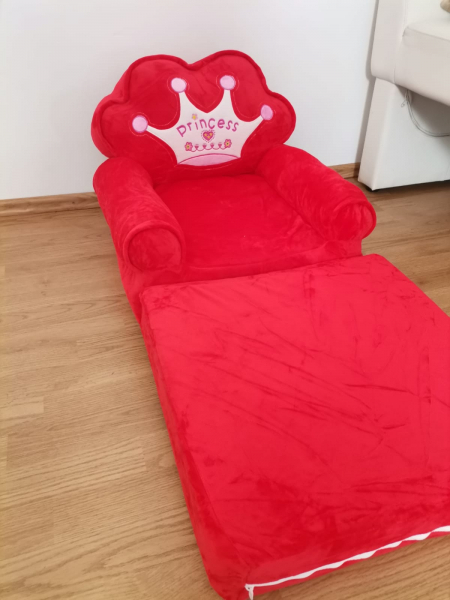 Fotoliu extensibil de plus Princess Rosu 100 cm 3