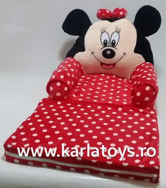 Fotoliu Extensibil Plus cu Buline Minne Mouse - Mickey Mouse 80 cm 0