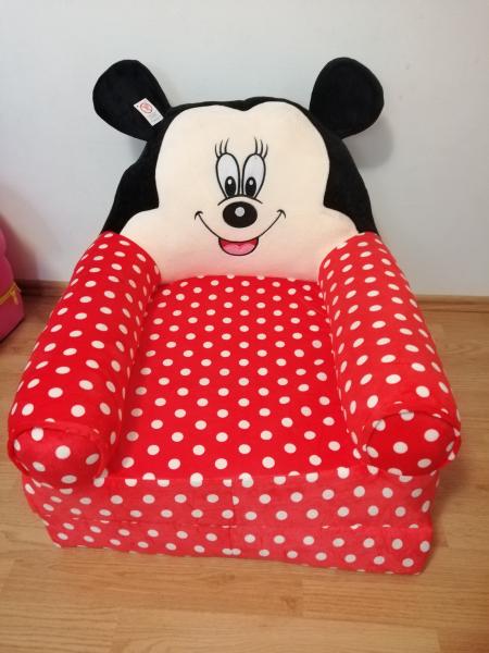 Fotoliu extensibil XXLdin plus Mickey Mouse cu buline 120 cm 7