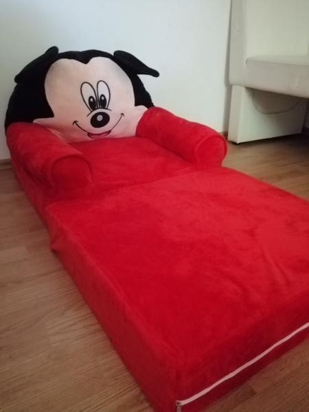Fotoliu Extensibil XXL Mickey Mouse din plus 120 cm - Minnie Mouse [3]