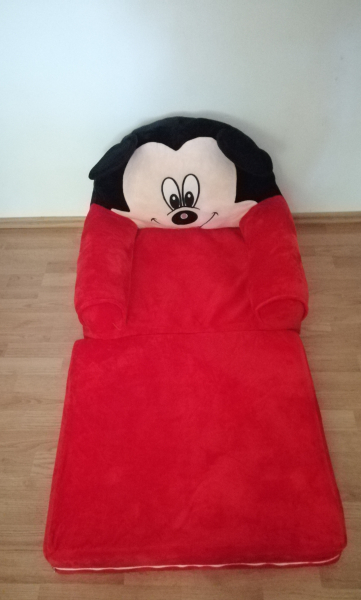Fotoliu Extensibil XXL Mickey Mouse din plus 120 cm - Minnie Mouse [6]