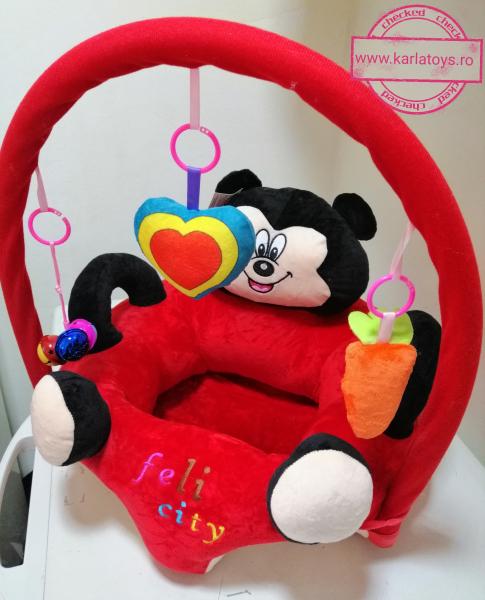 Fotoliu plus bebe sit up Mickey Mouse cu jucarii - fotoliu sit up cu arcada jucarii Minnie Mouse 3