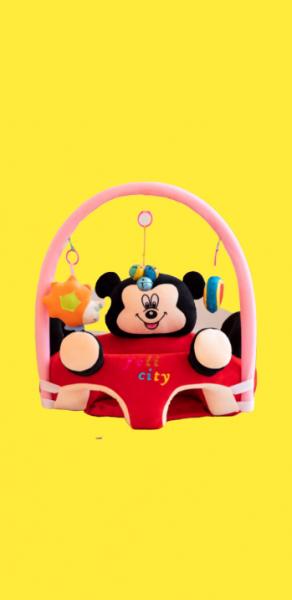 Fotoliu plus bebe sit up Mickey Mouse cu jucarii - fotoliu sit up cu arcada jucarii Minnie Mouse 0