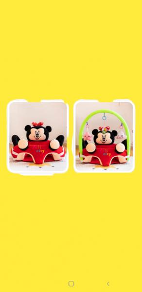 Fotoliu plus bebe sit up Mickey Mouse cu jucarii - fotoliu sit up cu arcada jucarii Minnie Mouse 2