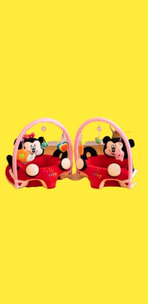 Fotoliu plus bebe sit up Mickey Mouse cu jucarii - fotoliu sit up cu arcada jucarii Minnie Mouse 1