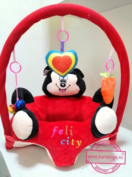 Fotoliu plus bebe sit up Mickey Mouse cu jucarii - fotoliu sit up cu arcada jucarii Minnie Mouse 5