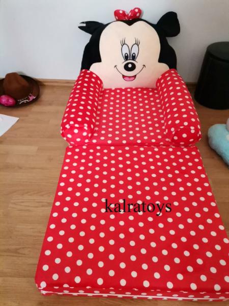 Fotoliu plus extensibil Minnie Mouse cu buline mare 120 cm [0]