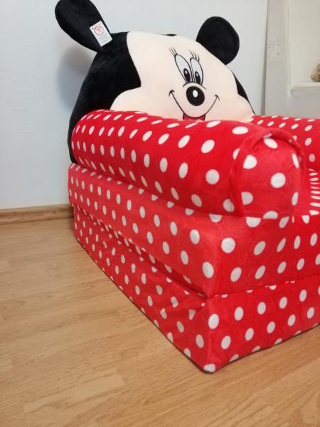 Fotoliu plus extensibil Minnie Mouse cu buline mare 120 cm [4]