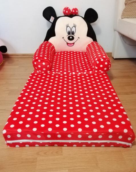 Fotoliu plus extensibil Minnie Mouse cu buline mare 120 cm [9]