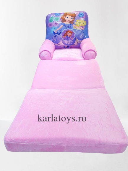 Fotoliu extensibil din plus pentru copii Sofia 1  3 parti 115 cm [0]