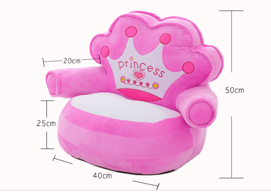 Fotoliu din plus copii Princess sit down 0