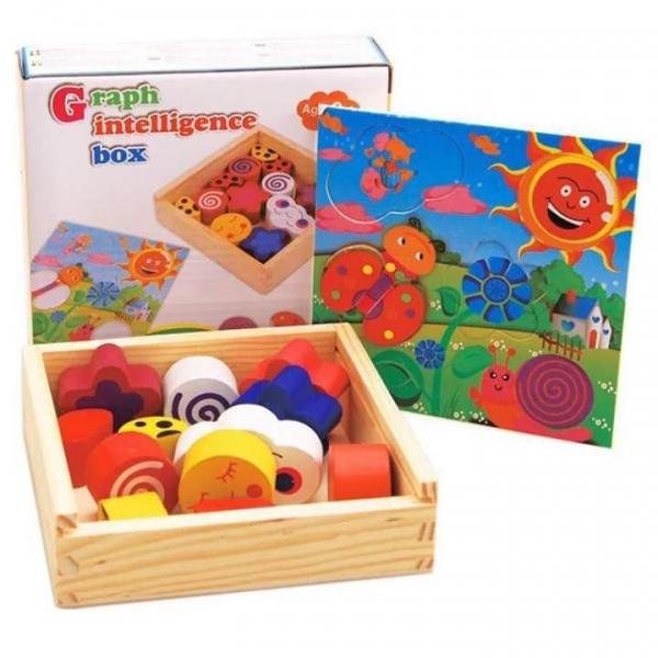 Puzzle din lemn - Graph Intelligence Box 0