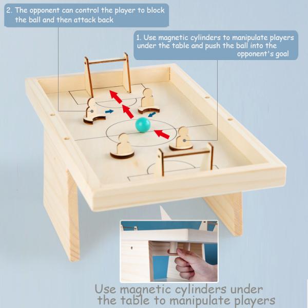 Masa de Fotbal din lemn Joc interactiv copii 4