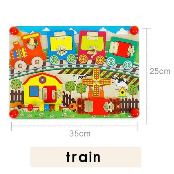 Joc din lemn incuie si descuie Onshine Tren 2
