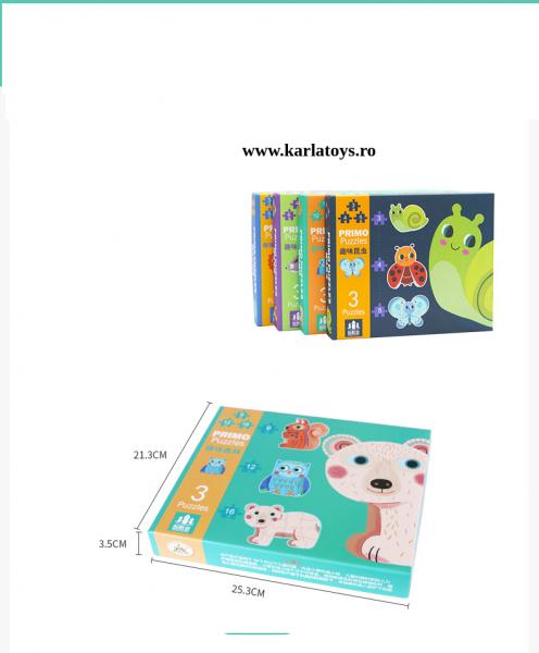 Set Puzzle Mare copii - Puzzle imagini animale piese mari 0