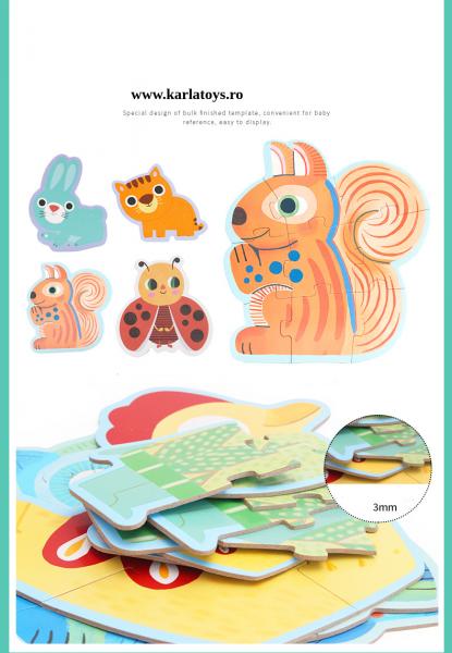 Set Puzzle Mare copii - Puzzle imagini animale piese mari 1