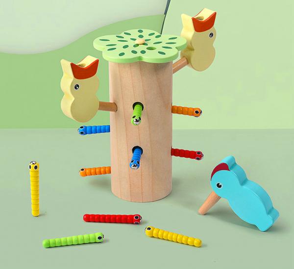 Joc de lemn Dexteritate Magnetic Copacul cu Pui 0