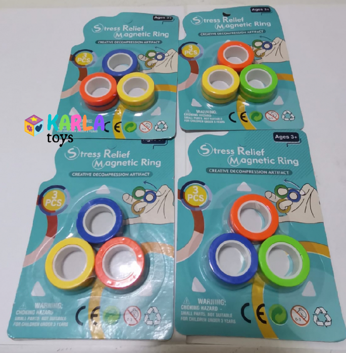 Set 3 buc Joc antistres Inel Magnetic - Magnetic Ring - 9