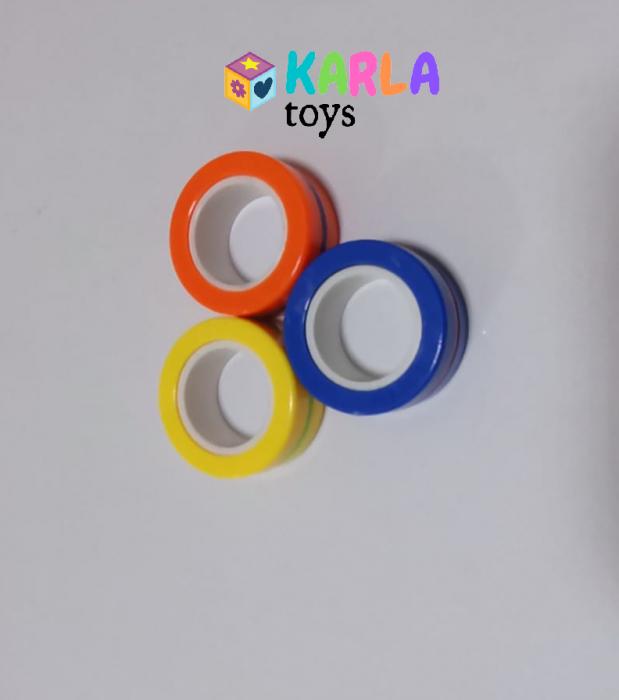 Set 3 buc Joc antistres Inel Magnetic - Magnetic Ring - 7