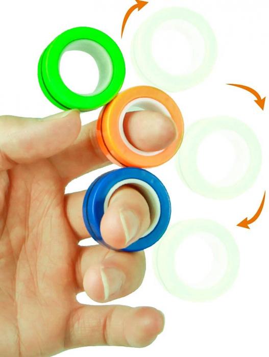 Set 3 buc Joc antistres Inel Magnetic - Magnetic Ring - 12
