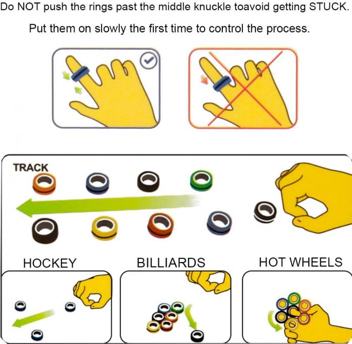 Set 3 buc Joc antistres Inel Magnetic - Magnetic Ring - 13