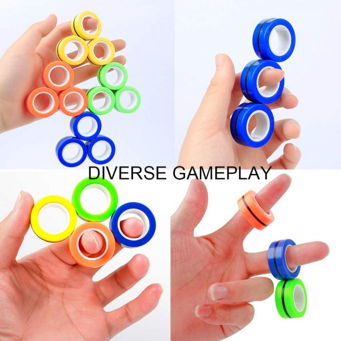 Set 3 buc Joc antistres Inel Magnetic - Magnetic Ring - 15