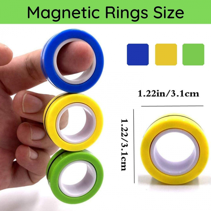 Set 3 buc Joc antistres Inel Magnetic - Magnetic Ring - 17