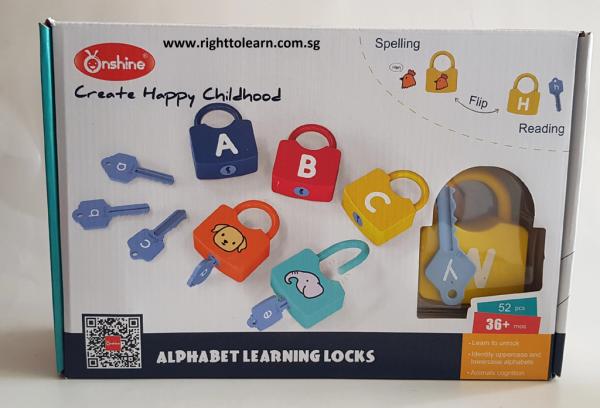Joc copii Lacate si Litere - Set chei copii Alfabet si Imagini 2