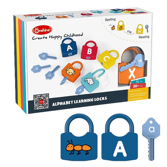 Joc copii Lacate si Litere - Set chei copii Alfabet si Imagini 3