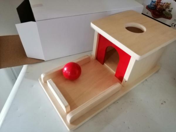 Joc de Lemn Montessori Cutia Permanentei cu bila 6