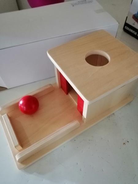 Joc de Lemn Montessori Cutia Permanentei cu bila 7