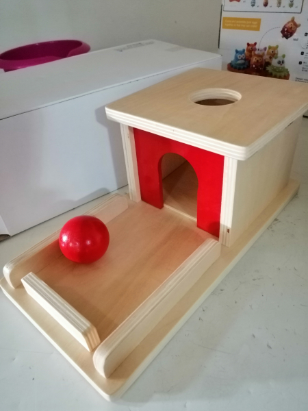 Joc de Lemn Montessori Cutia Permanentei cu bila 8