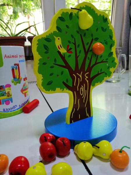 Joc de Lemn Montessori Pomul cu Mere - Apple Tree 7